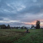 Dirtbikes and a beautiful sunset