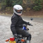 Kathryn on her Yamaha... birthday moto ride!