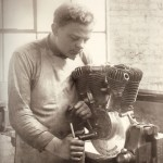 Harley Davidson early mechanic in the factory