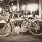 1913 Harley Davidson Model 9E being built at the factory