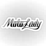 "MotoLady 4"" sticker"