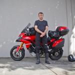 Tamlyn with his Ducati Multistrada