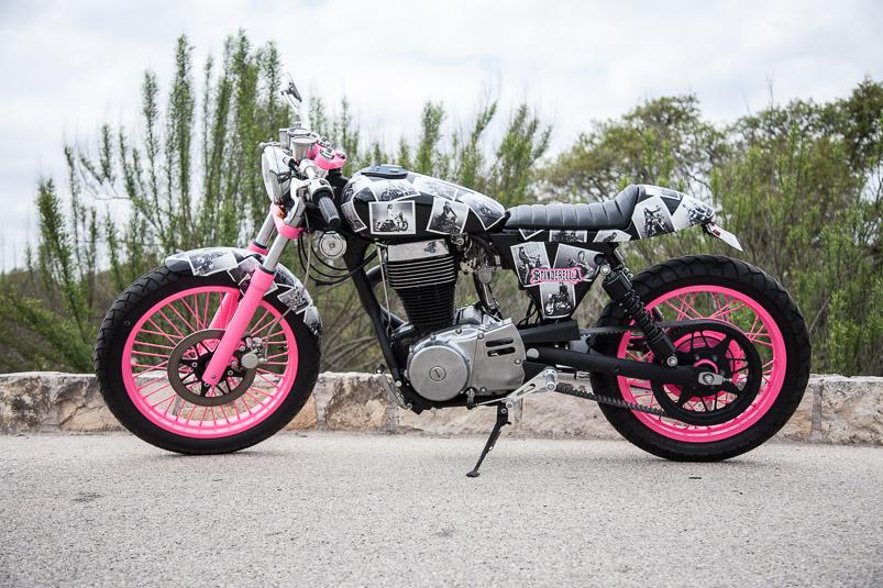 Krystal Hess Suzuki Savage Cafe Racer Spinderella Moto Lady
