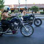 Michelle Clabby & Jenny Czinder riding motorcycles topless through Portland with nipple pasties