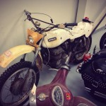 Old Ossa dirtbike at the Canada Harley warehouse