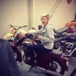 CZ Jawa 350 2 stroke at the Canada Harley warehouse