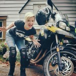 Alicia and the BMW f650GS
