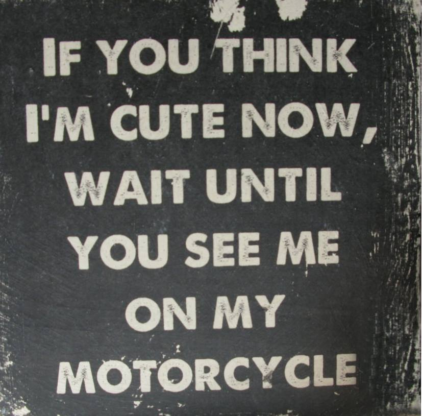 If You Think I'm Cute Now, Wait Until You See Me On My Motorcycle!