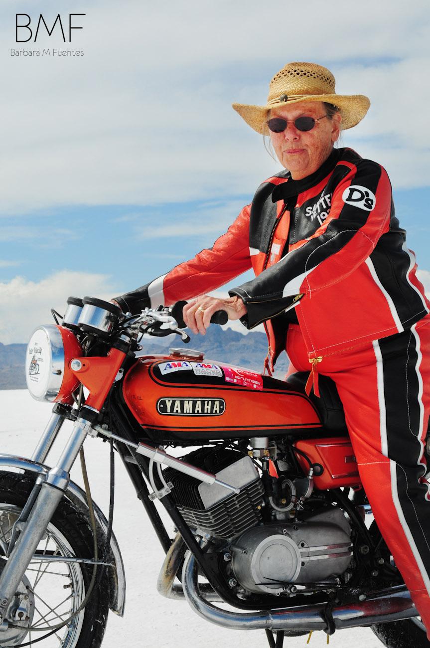 Sandy Vetter, 76 y/o Salt Flat racer