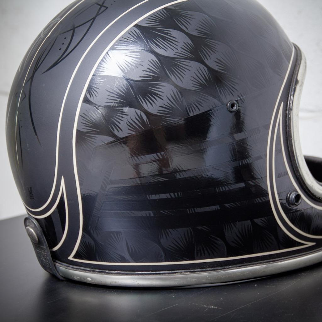 Wolf Designs Custom Arthur Fulmer Helmet Moto Lady