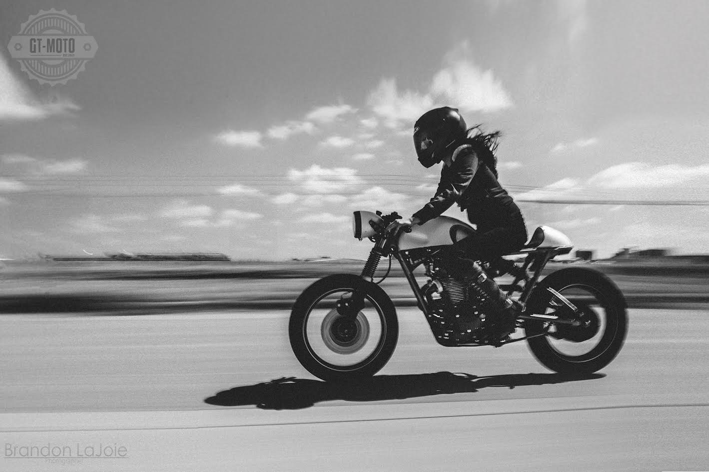 Sofi Tsingos Cafe Racer Charity Bike Moto Lady