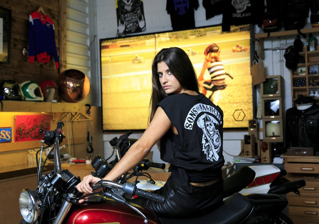 Female Stunt Rider Chesca Miles Moto Lady