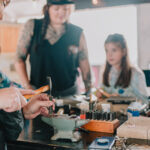 Real Deal Revolution silversmithing workshop with Brittany Jacobs of Moth Wing Metal Works